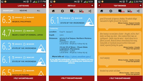 Last quake - best earthquake apps for Android and IOS