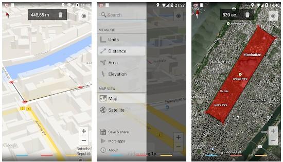 Maps Measure app