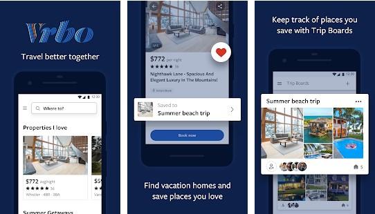vrbo - best apps like Airbnb