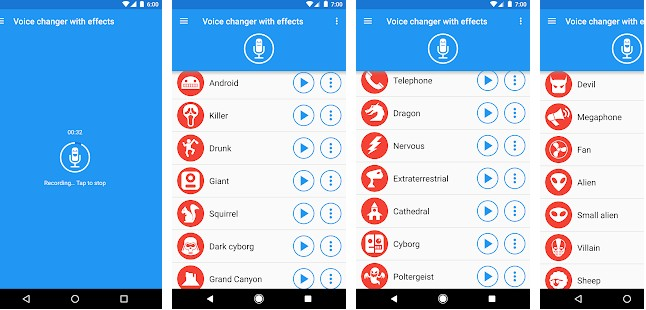 Voice Changer With Effects app