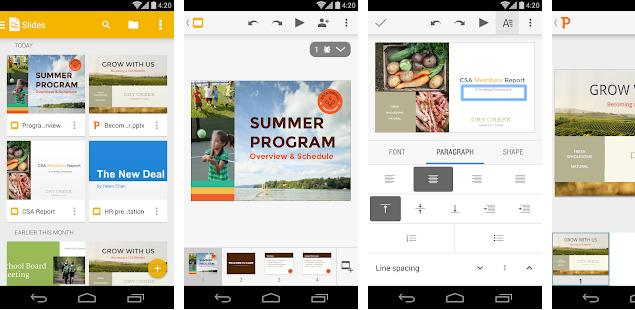 Google Slides - best slideshow apps for Android and IOS