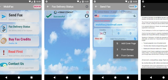 MobiFax - best fax apps for Android and iPhone