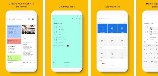 Google Keep - best Android Wear OS apps