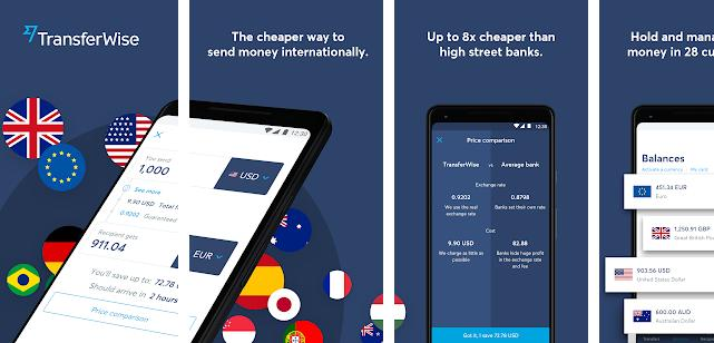 Transferwise - best PayPal alternative app