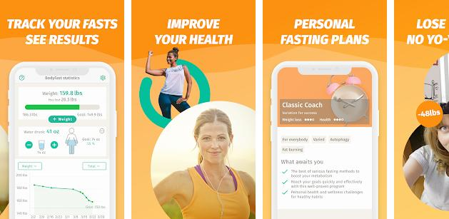 Bodyfast fasting app for Android and iOS