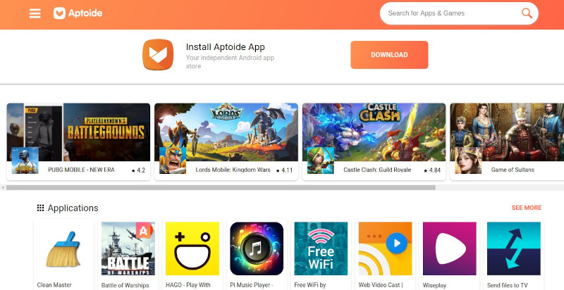 Aptoide Store - apps like Play Store