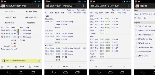 Time Recording - timesheet apps for Android
