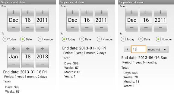 Simple Date Calculator app